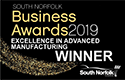 South Norfolk Business Awards 2019 - Excellence In Advanced Manufacturing Winner